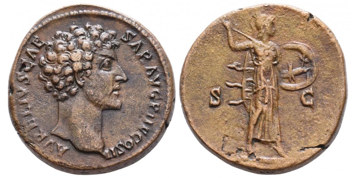 Marco Aurelio. Sestercio....