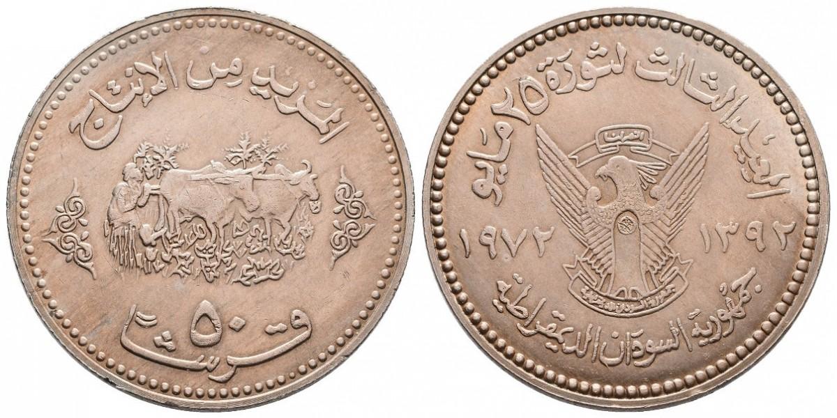 Sudán. 50 ghirs. 1972