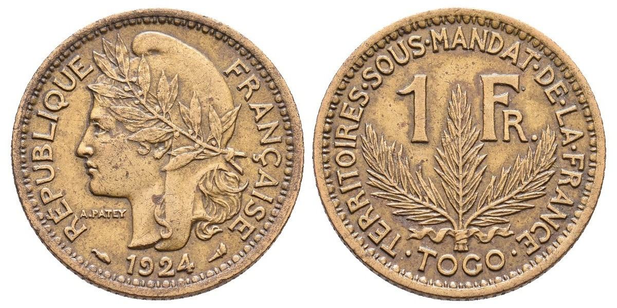 Togo. 1 franc. 1924