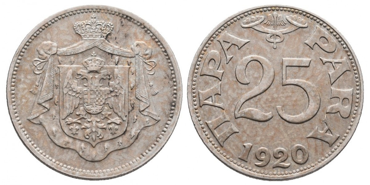 Yugoslavia. 25 para. 1920