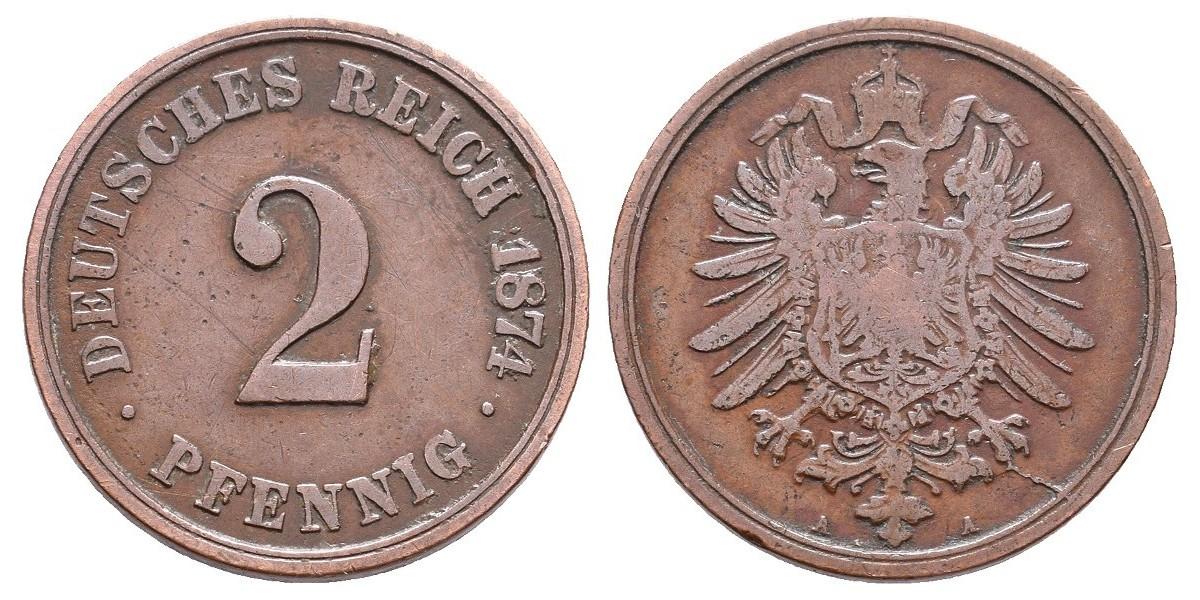 Alemania. 2 pfennig. 1874 A