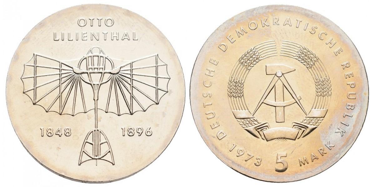 Alemania DDR. 5 mark. 1973