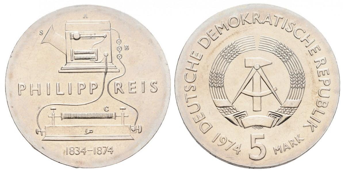 Alemania DDR. 5 mark. 1974
