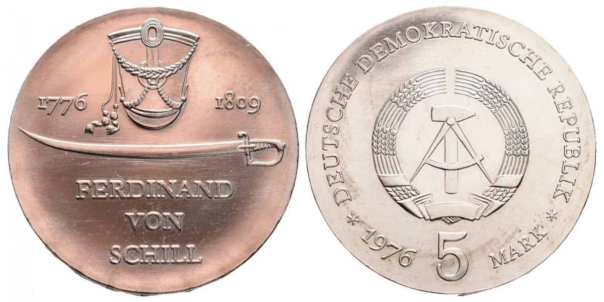 Alemania DDR. 5 mark. 1976