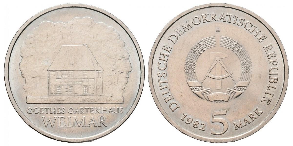 Alemania DDR. 5 mark. 1982
