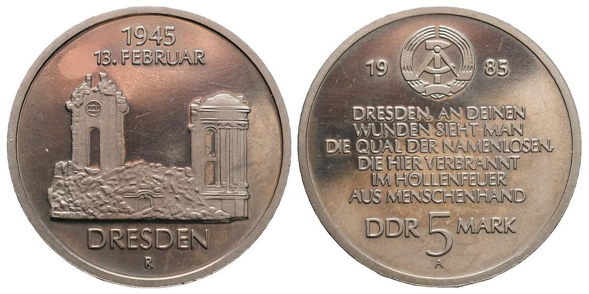 Alemania DDR. 5 mark. 1985