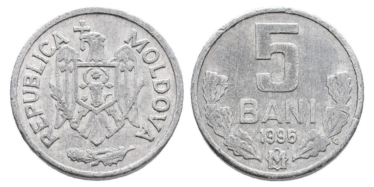 Moldavia. 5 bani. 1996
