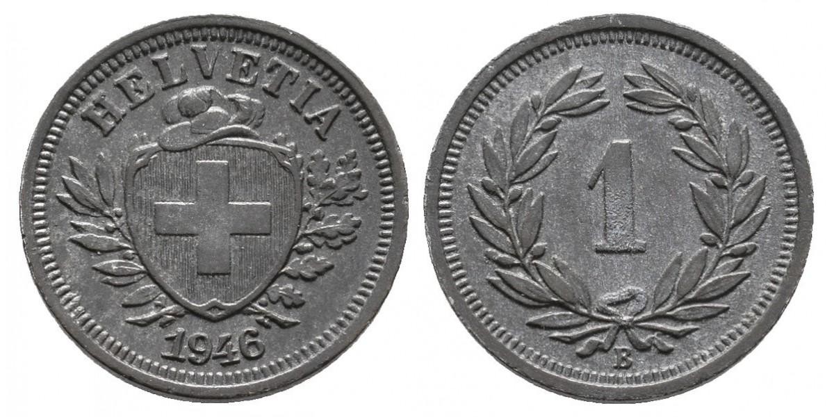 Suiza. 1 rappen. 1946 B