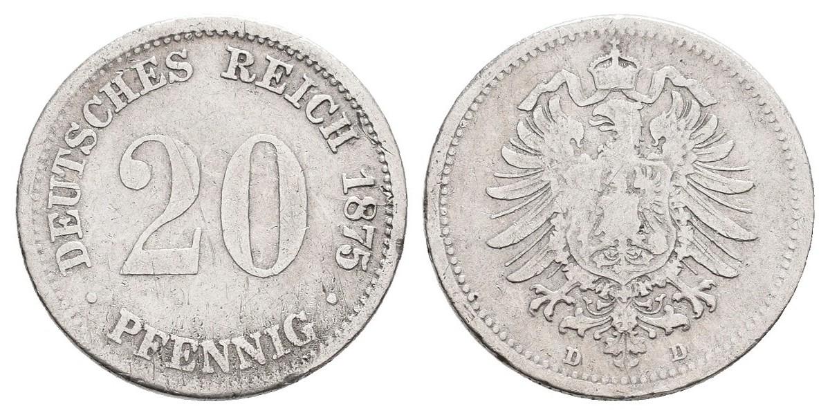 Alemania. 20 pfennig. 1875 B