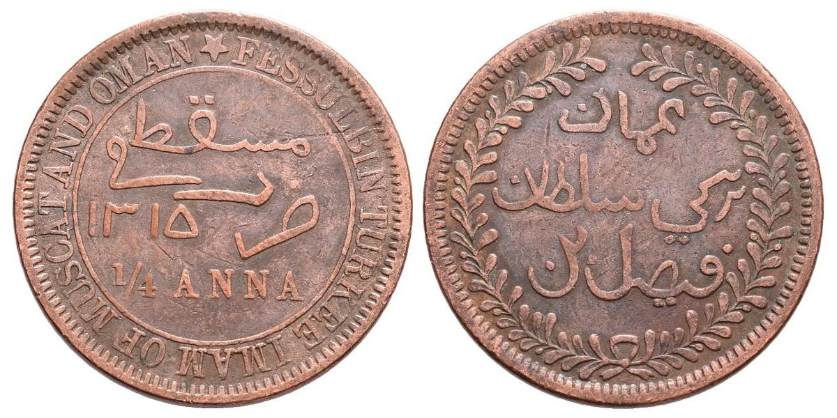 Muscat y Omán. 1/4 anna. 1897