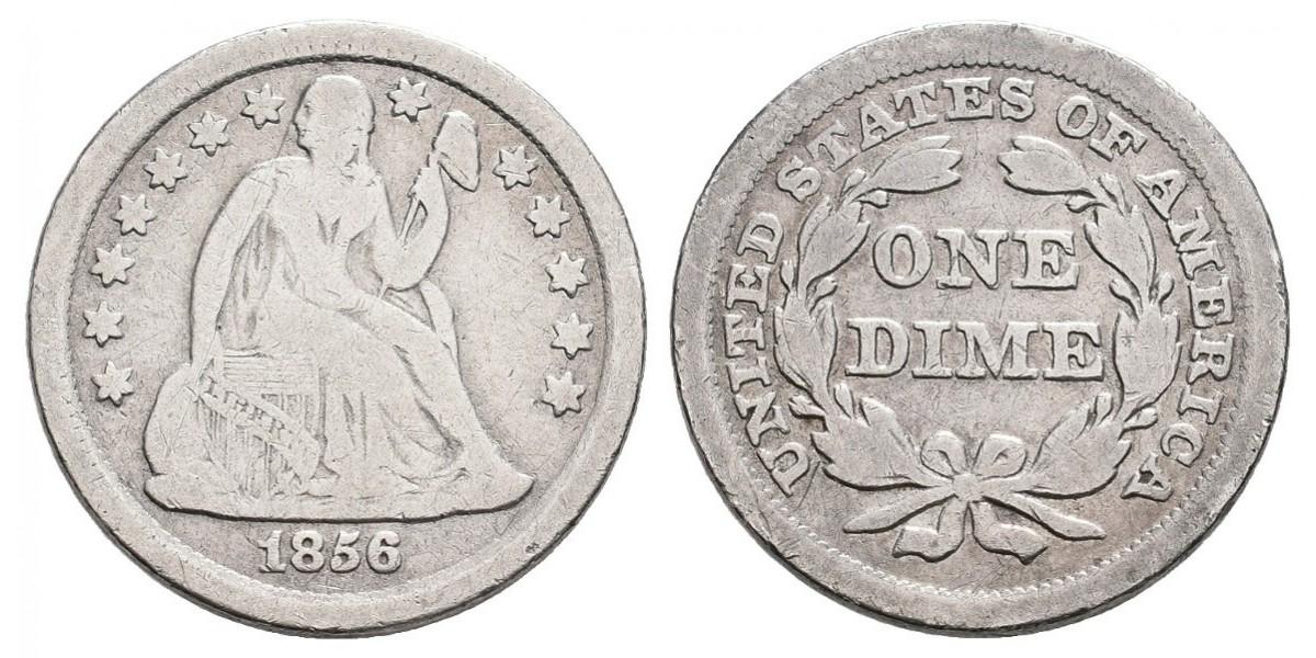 Estados Unidos. 1 dime. 1856