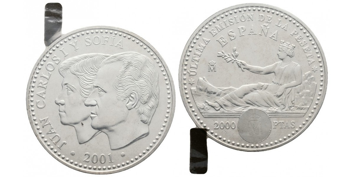 Juan Carlos I. 2000 pesetas. 2001