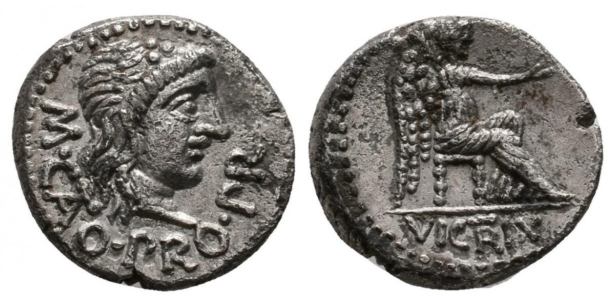 Porcia. Quinario. 47-46 a.C.. Roma