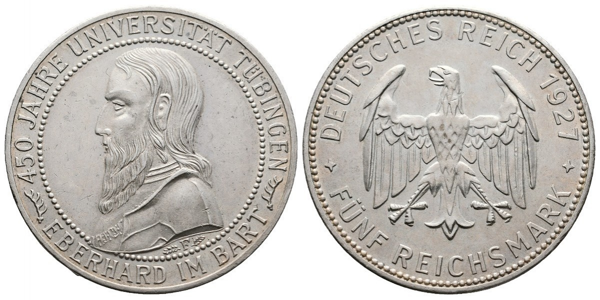 Alemania. 5 mark. 1927 F