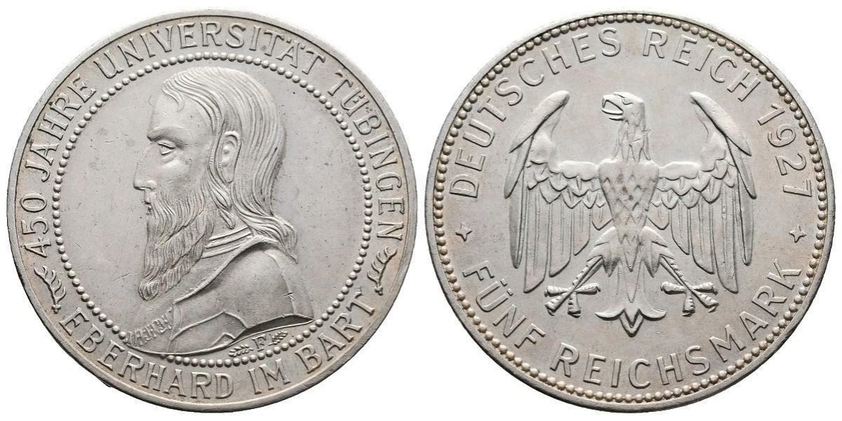 Alemania. 5 mark. 1927 F