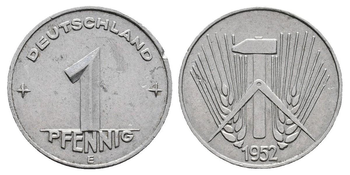 Alemania. 1 pfennig. 1952 E