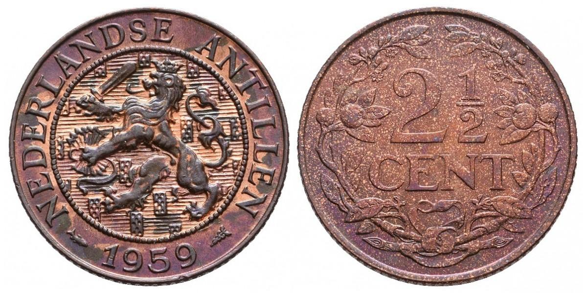 Antillas Holandesas. 2 1/2 cents. 1959