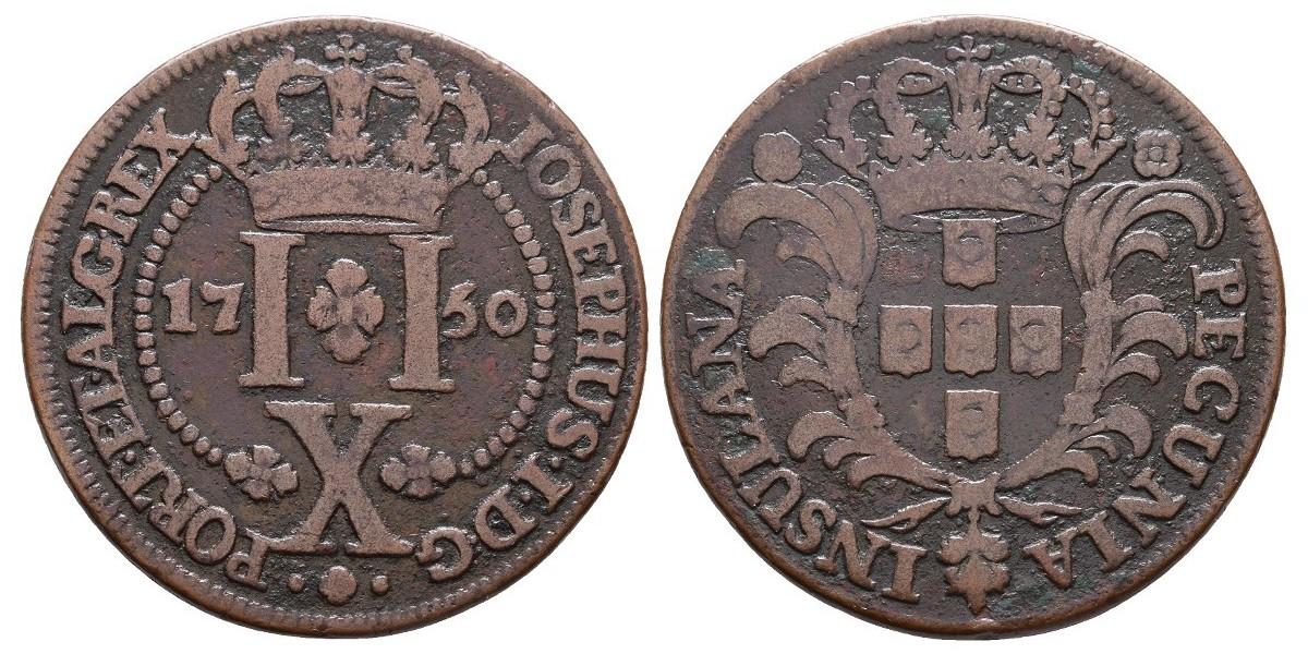 Azores. 10 reis. 1750