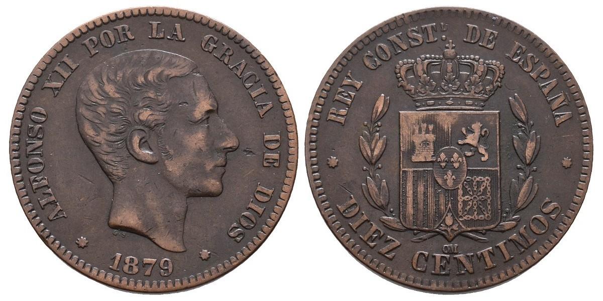 Alfonso XII. 10 céntimos. 1879. Barcelona