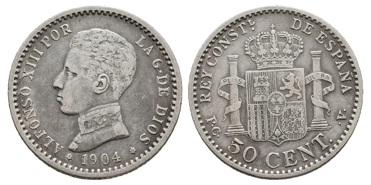 Alfonso XIII. 50 céntimos. 1904*1-0. Madrid