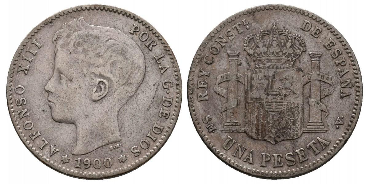Alfonso XIII. 1 peseta. 1900. Madrid