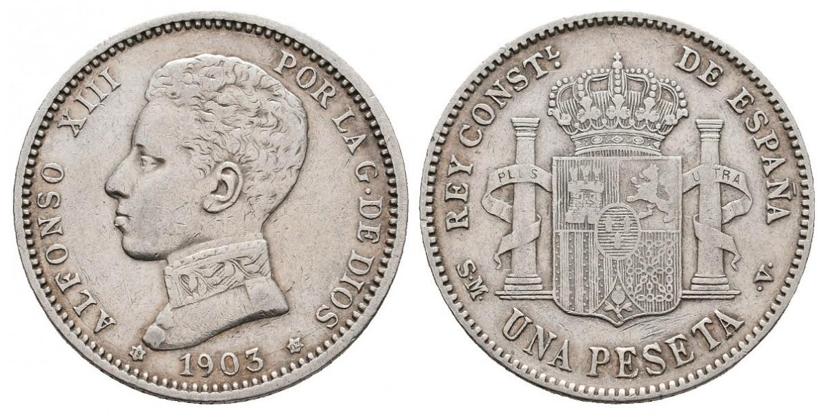 Alfonso XIII. 1 peseta. 1903*19-03. Madrid