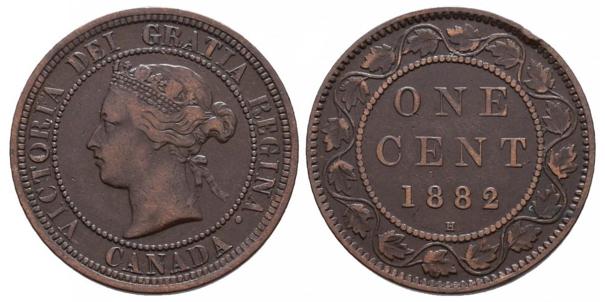 Canadá. 1 cent. 1882 H