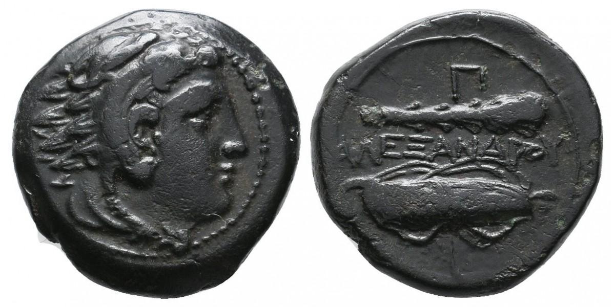 Alejandro Magno. Bronce. 336-323 a.C.. Macedonia