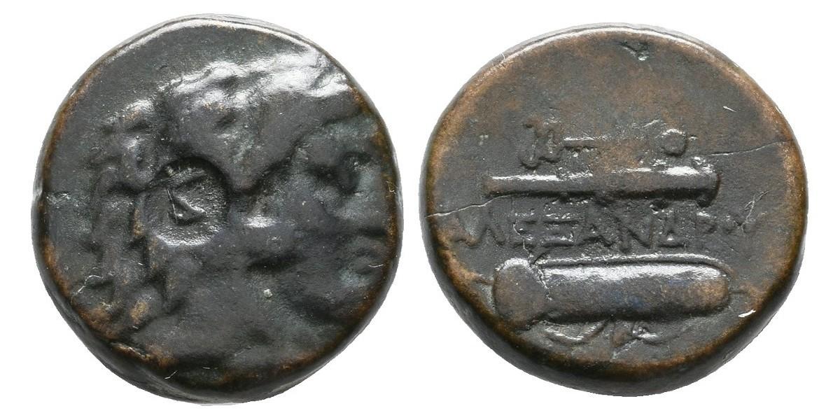 Alejandro Magno. Bronce. 356-323 a.C.. Macedonia