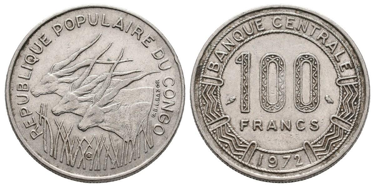 Congo. 100 francs. 1972