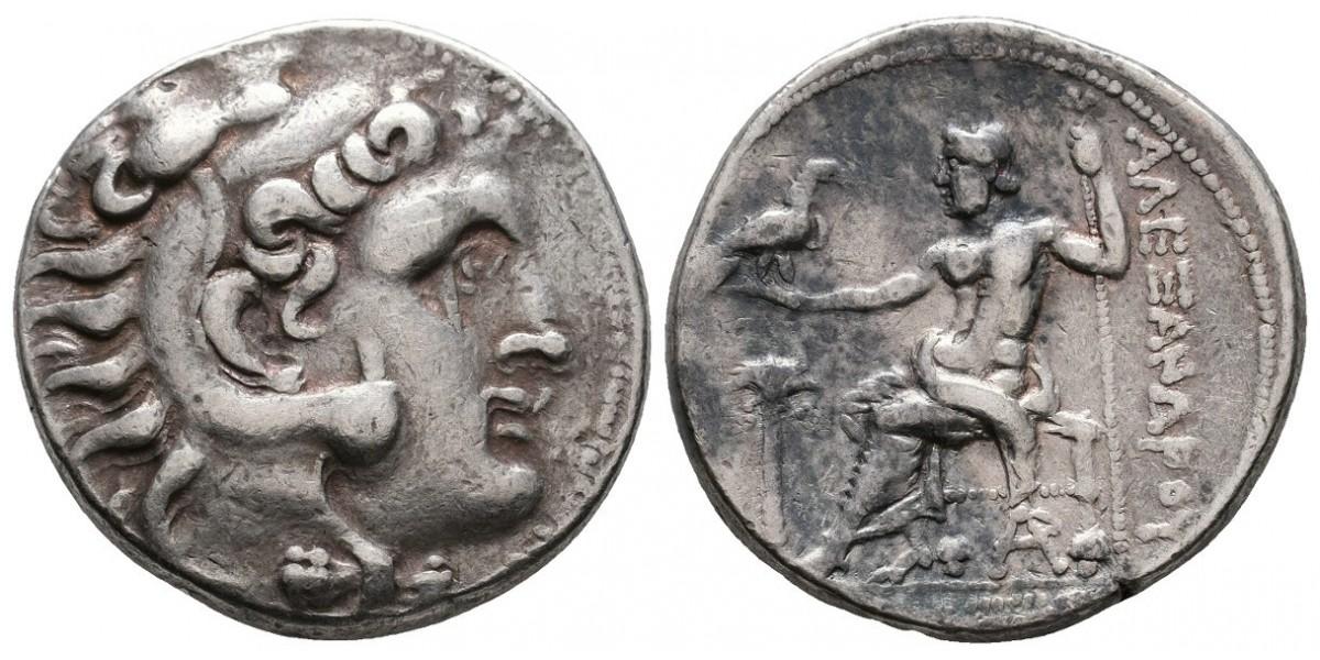 Alejandro Magno. Tetradracma. Siglo IV a.C.. Arados