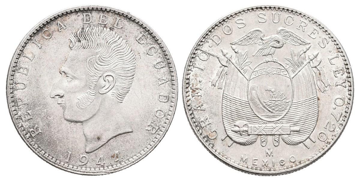 Ecuador. 2 sucres. 1944
