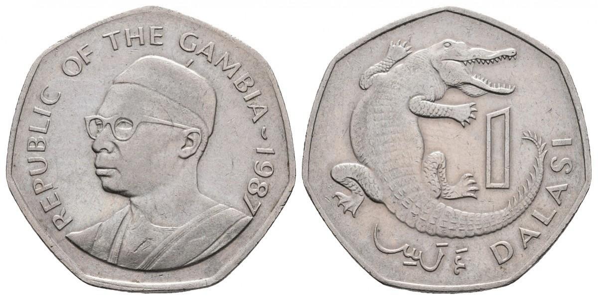 Gambia. 1 dalasi. 1987