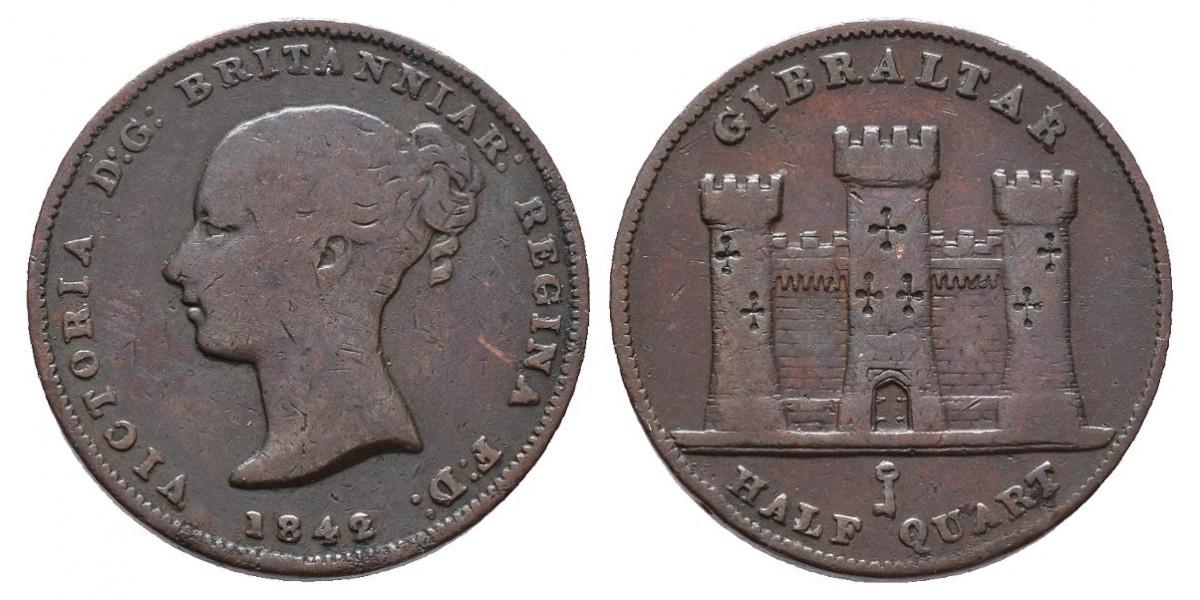 Gibraltar. 1/2 quart. 1842